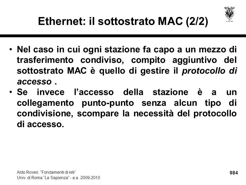 985 Aldo Roveri, Fondamenti di reti Univ.di Roma La Sapienza - a.a.