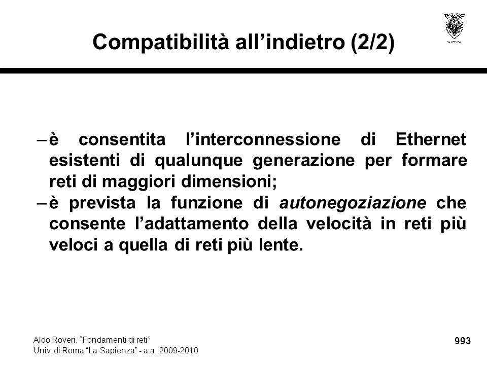 994 Aldo Roveri, Fondamenti di reti Univ.di Roma La Sapienza - a.a.
