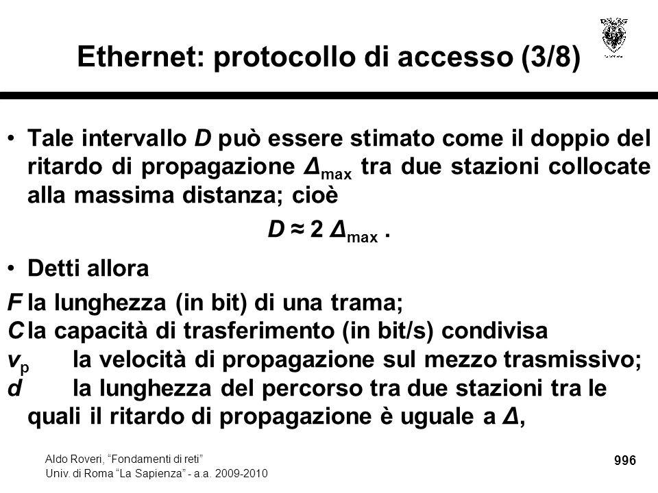 997 Aldo Roveri, Fondamenti di reti Univ.di Roma La Sapienza - a.a.