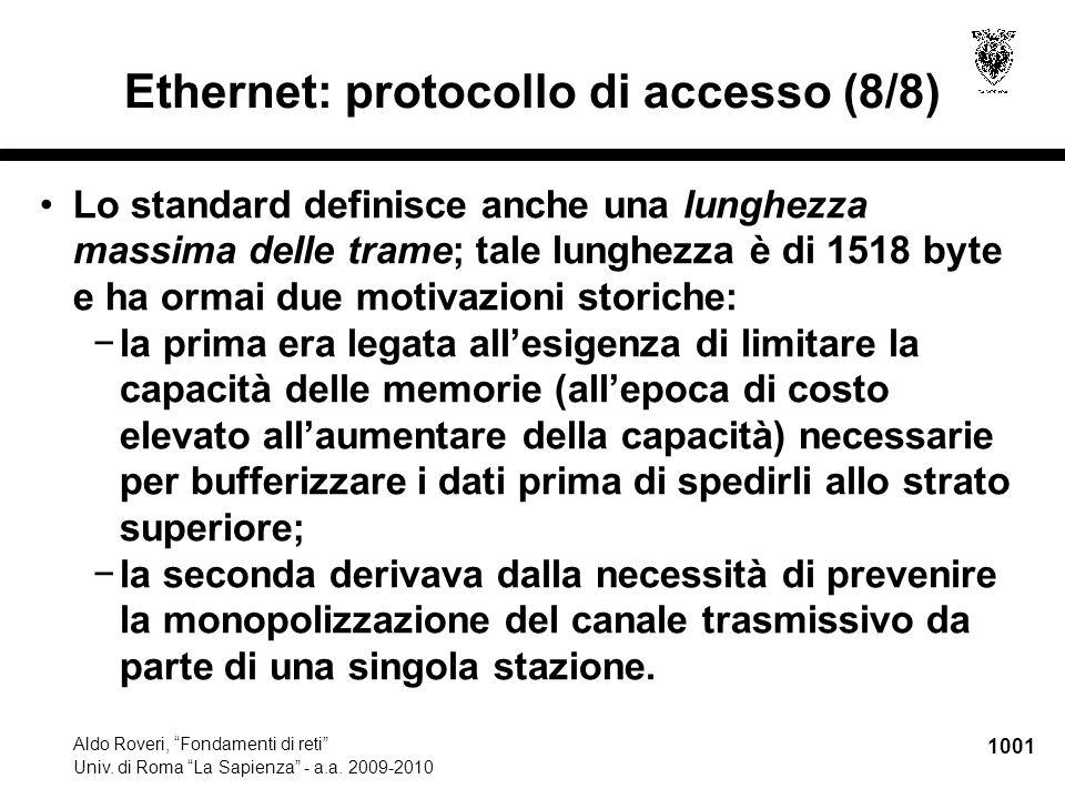 1002 Aldo Roveri, Fondamenti di reti Univ.di Roma La Sapienza - a.a.