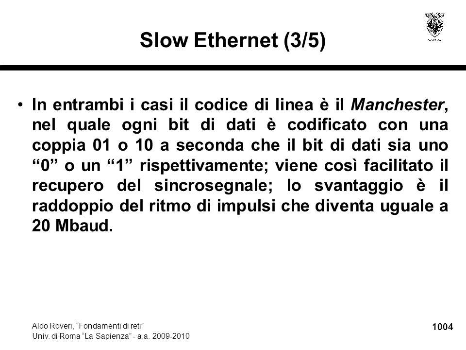 1005 Aldo Roveri, Fondamenti di reti Univ.di Roma La Sapienza - a.a.