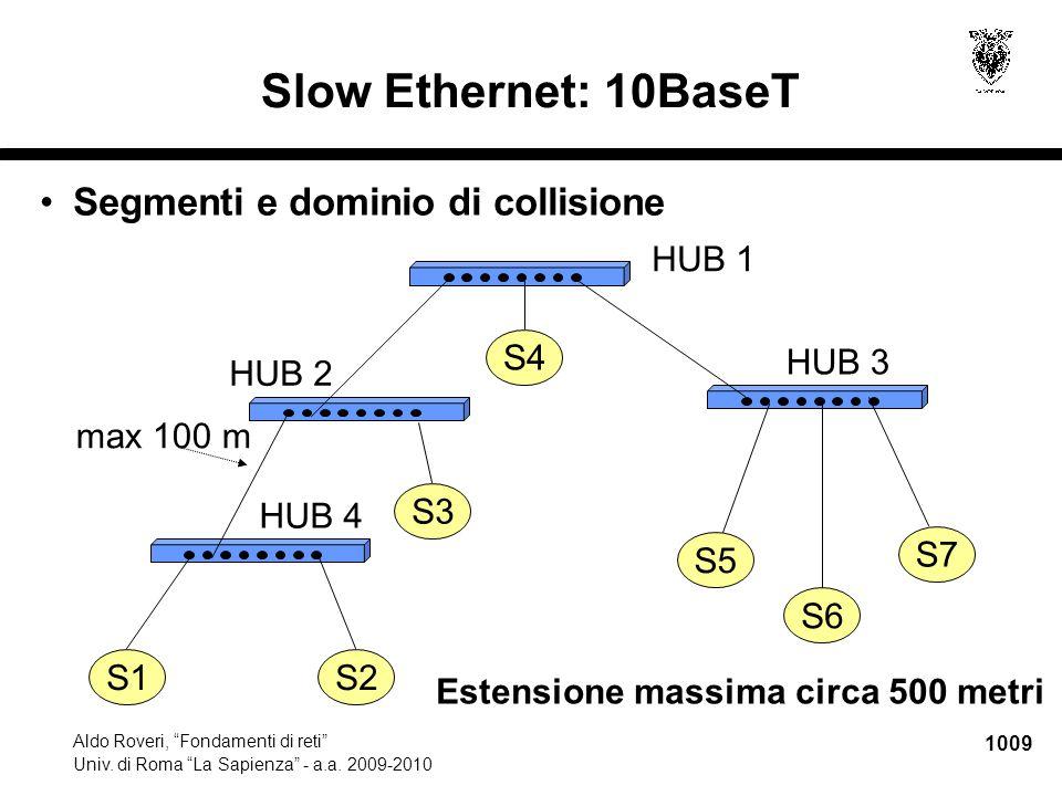 1010 Aldo Roveri, Fondamenti di reti Univ.di Roma La Sapienza - a.a.