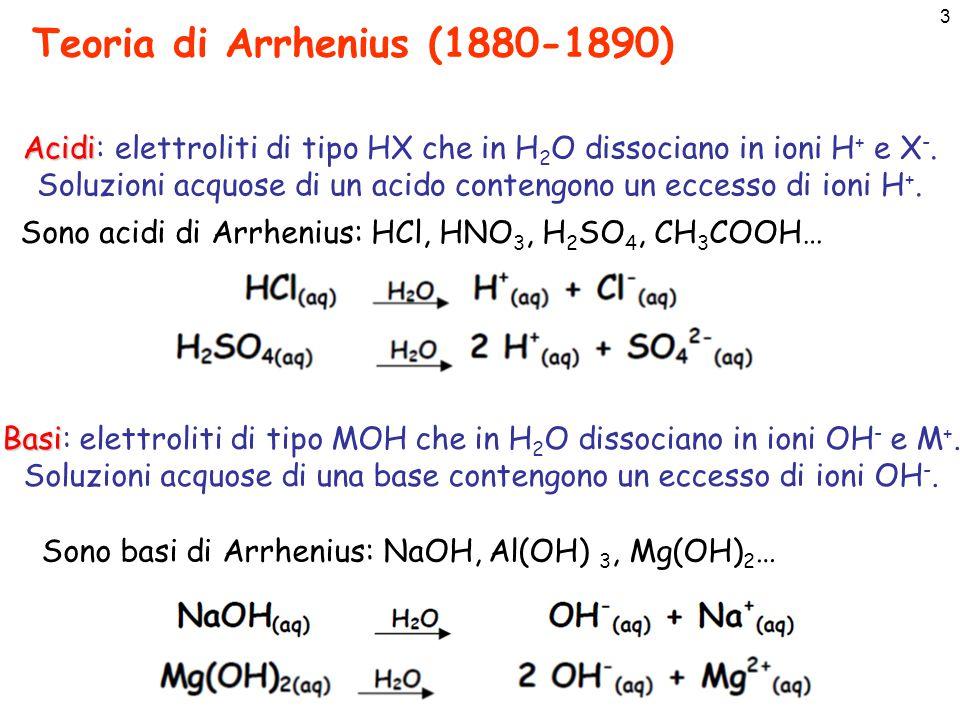 4 Teoria di Arrhenius (1880-1890)
