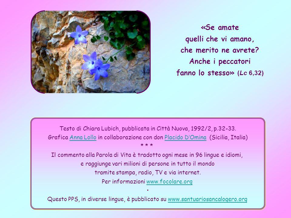 Testo di Chiara Lubich, pubblicata in Città Nuova, 1992/2, p.32-33.