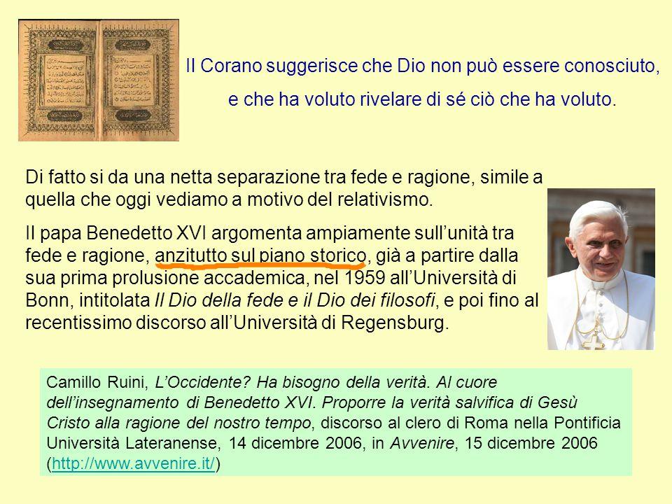 Unità tra fede e ragione Critica dei miti e dei falsi dei Traduzione al greco dell'AT In principio era il Logos universalità Benedetto XVI, Discorso nell'Università di Ratisbona, 12-IX-2006.