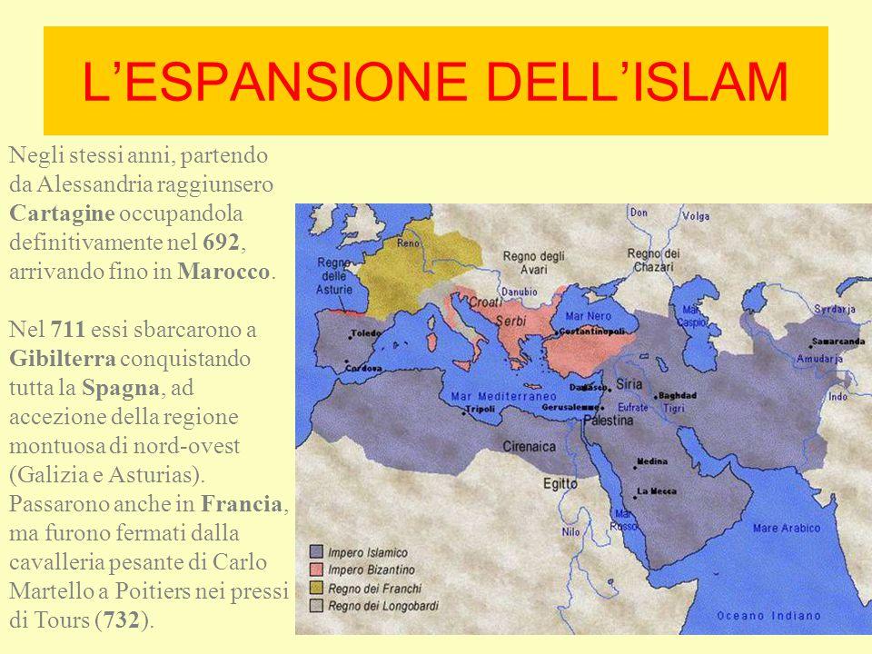 Nei primi anni del secolo VIII la situazione della cristianità appariva critica: Perdita pressoché completa delle province cristiane dell'Africa (a.