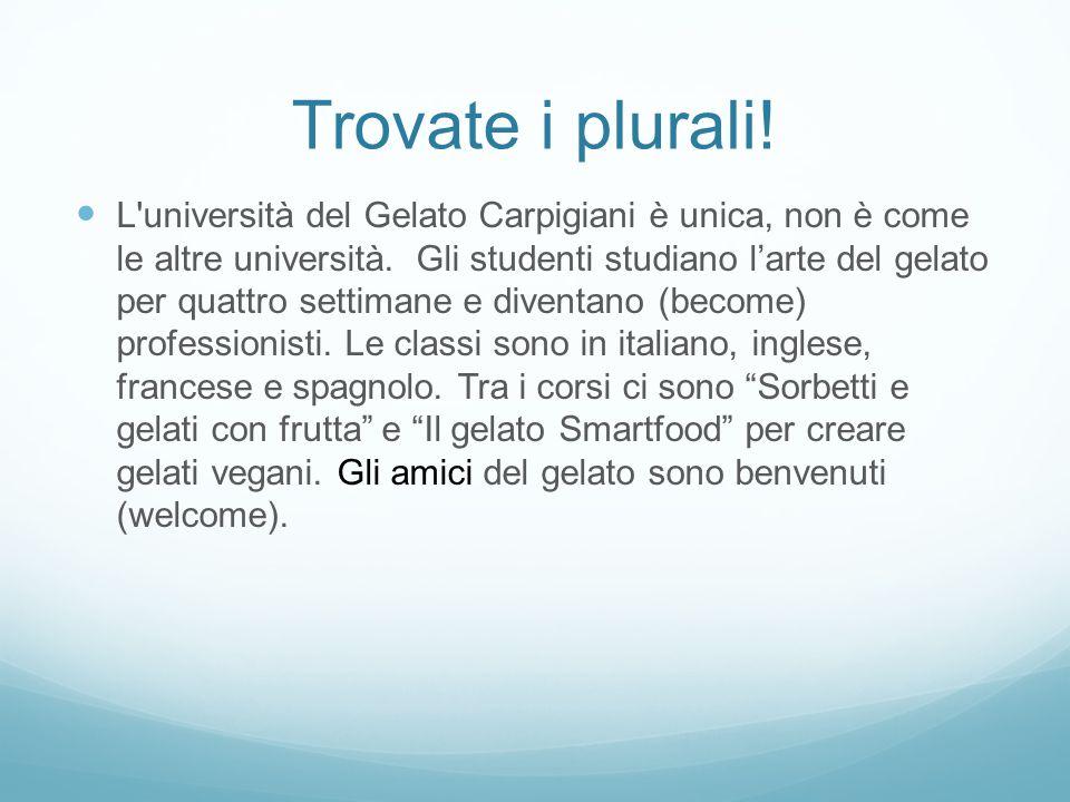 Una strana università L università del Gelato Carpigiani è unica, non è come le altre università.