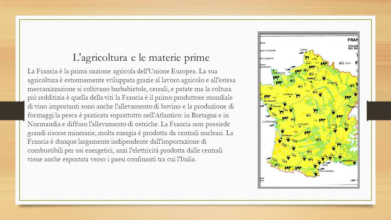 L industria L industria francese è sviluppata e in crescita.