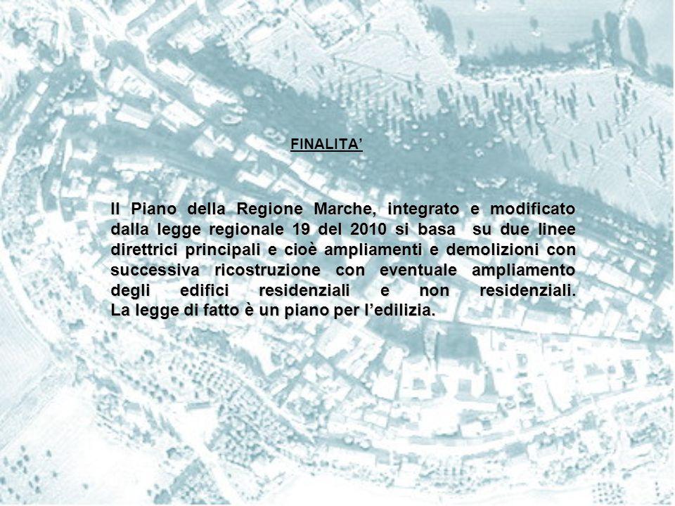 AMPLIAMENTO: 1) EDIFICI RESIDENZIALI - 20% della volumetria esistente (per quelli che si trovano in zona agricola non superiore a 200 mc); - per edifici con superficie inferiore a 80 mq, ampliamento fino a 95 mq; - l'ampliamento non può comportare un aumento superiore ad una unità immobiliare rispetto a quelle esistenti.