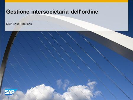 Gestione intersocietaria dell'ordine SAP Best Practices.