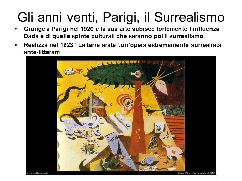 Nel 1924 aderisce formalmente al movimento surrealista con Il carnevale dell'Arlecchino di cui scrive: non dipingevo i sogni ma era la fame che mi procurava una specie di allucinazione