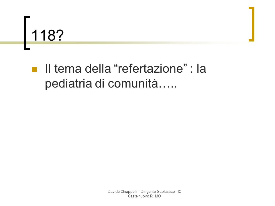 Davide Chiappelli - Dirigente Scolastico - IC Castelnuovo R.