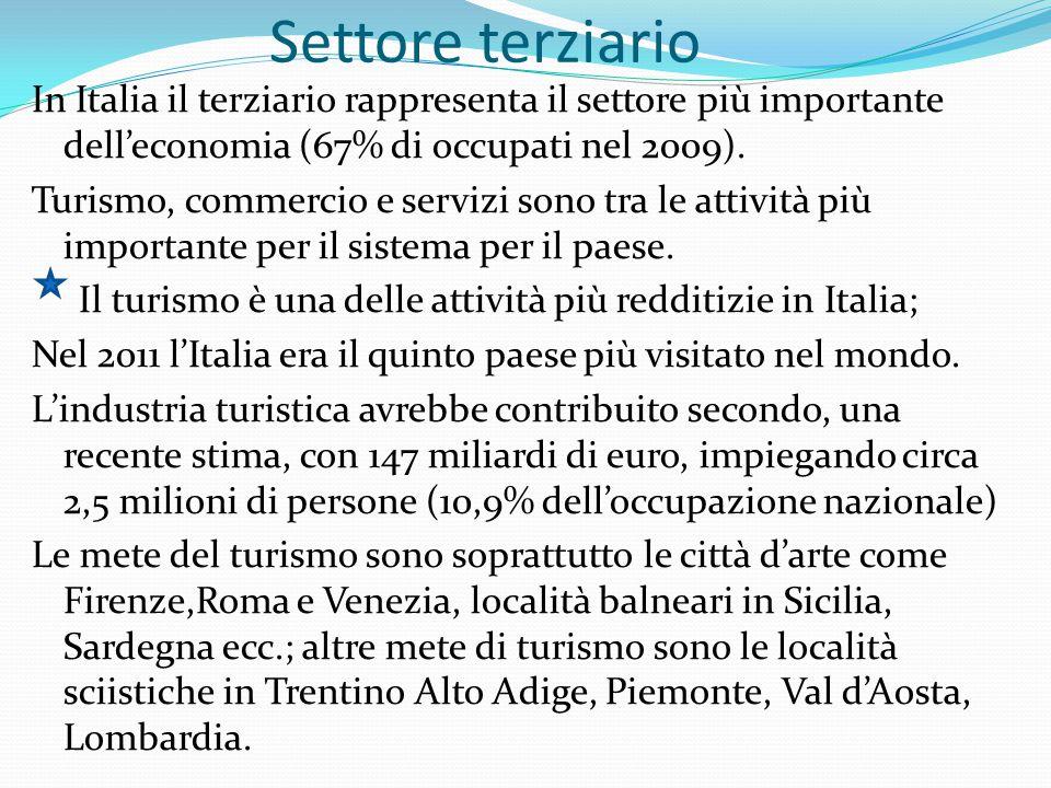 s CONTINUAZIONE SETT: TERZIARIO Presente in Italia, nel settore terziario, è la rete dei trasporti che comprende le seguenti infrastrutture: Rete ferroviaria Rete stradale Rete autostradale Rete aeroportuale presenti su tutto il territorio nazionale.