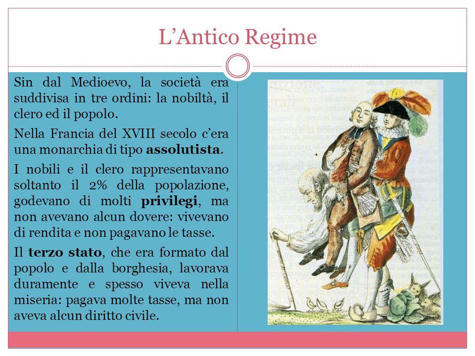 L'Illuminismo Contro l'Antico Regime, si sviluppò in Francia un movimento di pensiero rivoluzionario: l'Illuminismo.