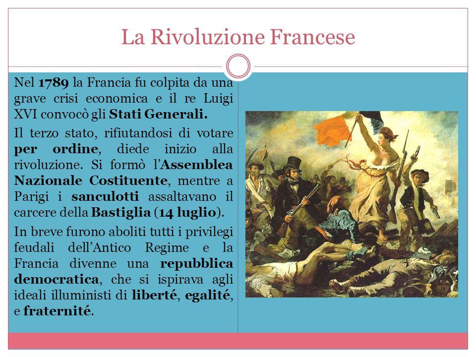Il Terrore Nel 1792 scoppiava la guerra con l'Austria, che aveva l'appoggio di tutte le nazioni d'Europa, mentre nelle campagne francesi i seguaci del re erano in rivolta.