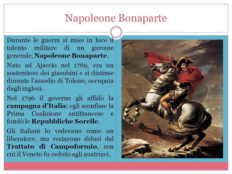 L'Impero di Napoleone Nel 1799 Napoleone guidò una spedizione in Egitto per colpire gli inglesi, ma non fu un vero successo.