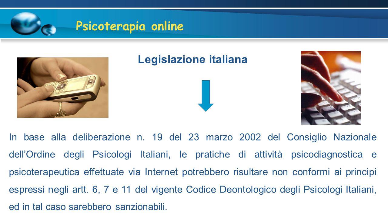 Psicoterapia online Lazio Vietato se non all'interno di un percorso già strutturato.