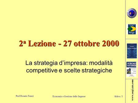 La strategia d'impresa: modalità competitive e scelte strategiche