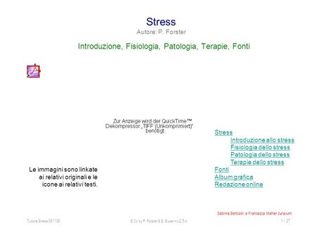 Stress Autore: P. Forster