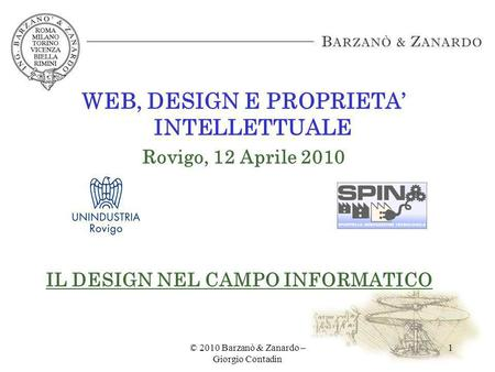 WEB, DESIGN E PROPRIETA' INTELLETTUALE