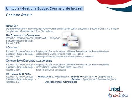 Unitools - Gestione Budget Commerciale Incassi