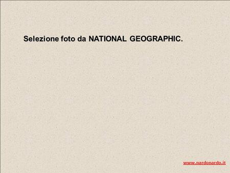 Selezione foto da NATIONAL GEOGRAPHIC. www.nardonardo.it.