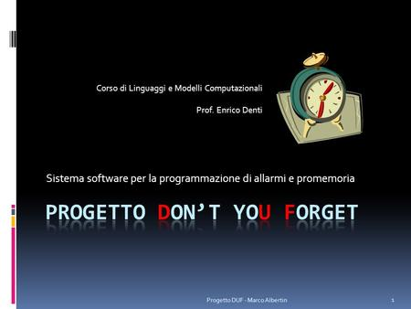 Progetto don't you forget