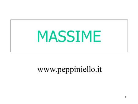 MASSIME www.peppiniello.it.