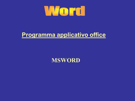 Programma applicativo office
