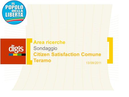 Citizen Satisfaction Comune Teramo