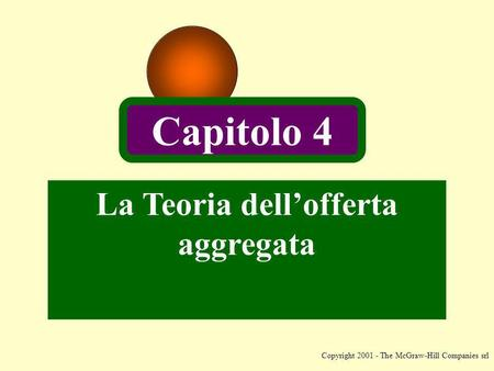 Copyright 2001 - The McGraw-Hill Companies srl La Teoria dellofferta aggregata Capitolo 4.
