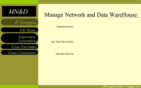 Manage Network and Data WareHouse