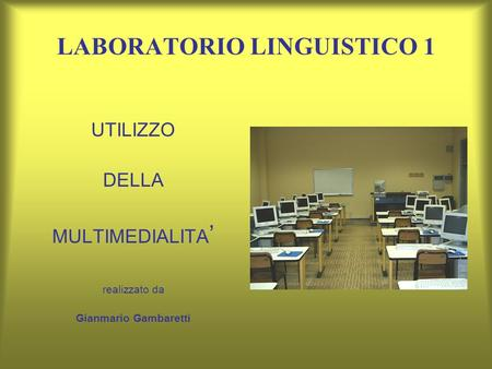 LABORATORIO LINGUISTICO 1