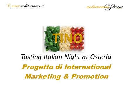 Tasting Italian Night at Osteria