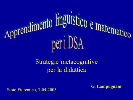 Strategie metacognitive per la didattica
