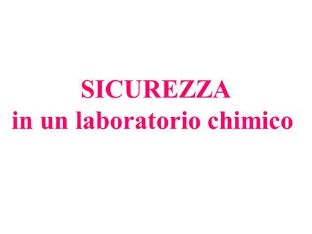 in un laboratorio chimico