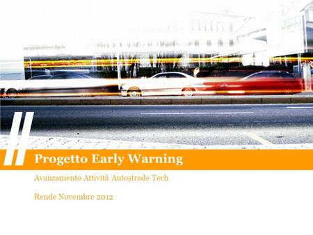 Progetto Early Warning