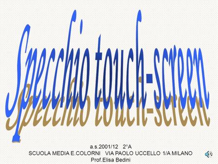 Specchio touch-screen