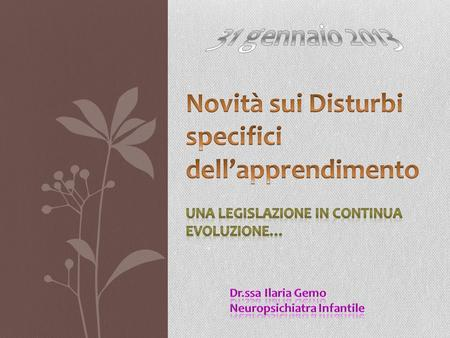 Novità sui Disturbi specifici dell'apprendimento