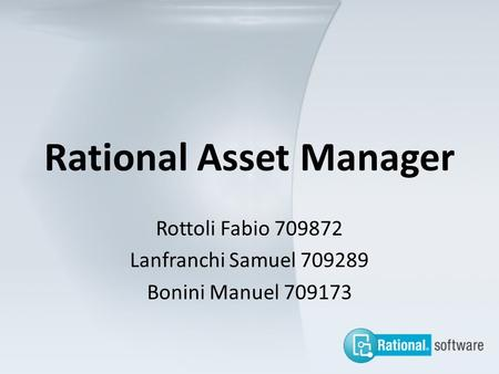 Rational Asset Manager