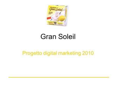 Progetto digital marketing 2010