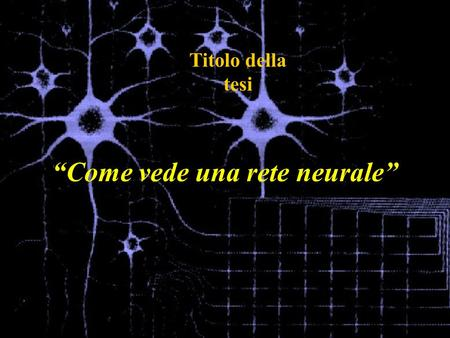 """Come vede una rete neurale"""