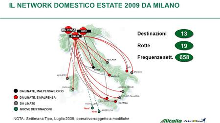 IL NETWORK EUROPEO ESTATE 2009 DA MILANO