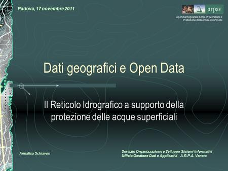 Dati geografici e Open Data