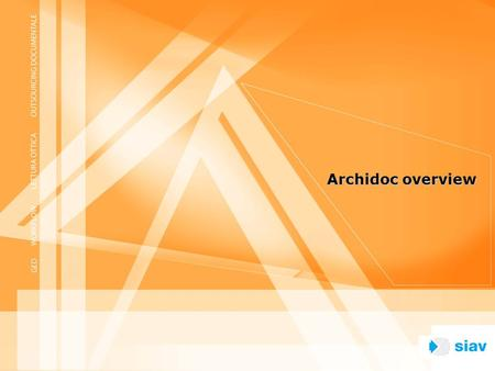 Archidoc overview.
