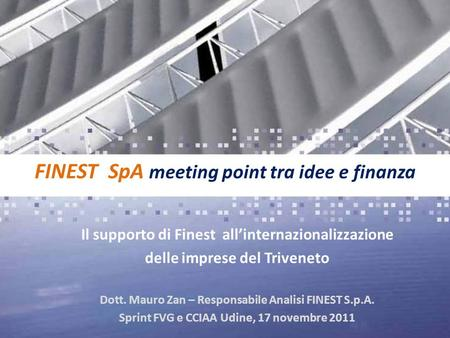 FINEST SpA meeting point tra idee e finanza