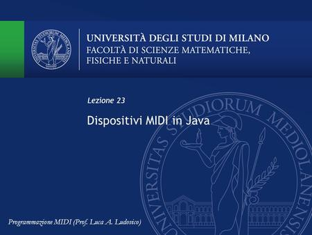Dispositivi MIDI in Java