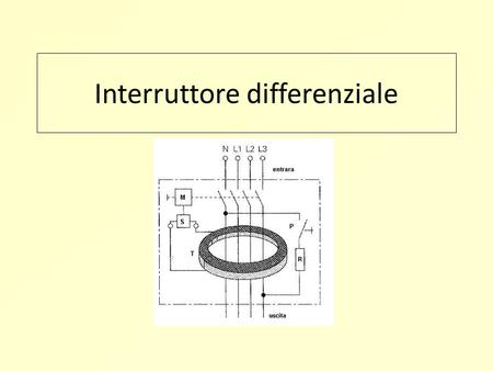 Interruttore differenziale. SALVAVITA L'interruttore differenziale ( salvavita ) è un dispositivo capace di interrompere (aprire) un circuito in caso.