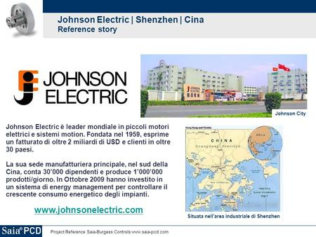 Johnson Electric | Shenzhen | Cina Reference story