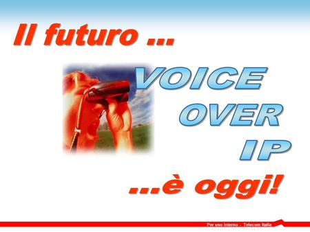 Il futuro ... VOICE OVER IP ...è oggi!.